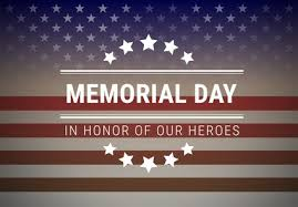 The Library is closed in observance of Memorial Day